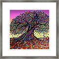 Rainbow Dreams And Falling Leaves Framed Print
