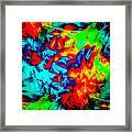 Rainbow Dye Framed Print