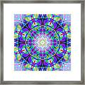 Rainbow Lotus Framed Print