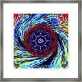 Rainbow Om Fractal Swirl Framed Print