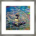 Rainbow Splash Framed Print