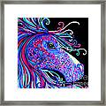 Rainbow Spotted Horse2 Framed Print