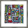 Rainbow Text Framed Print