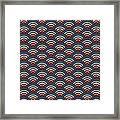 Rainbowaves Pattern Dark Framed Print