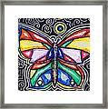 Rainbows And Butterflies Framed Print
