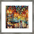 Rain's Rustle 2 - Palette Knife Oil Painting On Canvas By Leonid Afremov Framed Print