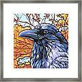 Raven Head Framed Print