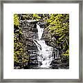 Raymondskill Falls In Milford Pa Framed Print