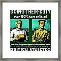 Recruiting Poster - Britain - Rugby Framed Print
