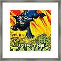 Recruiting Poster - Ww1 - Join The Tank Corps Framed Print