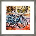 Red And Blue Rides Framed Print