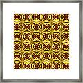 Red And Gold Christmas Abstract Framed Print