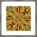 Red And Gold Christmas Kaleidescope Framed Print