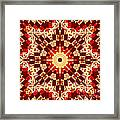 Red And White Patchwork Art Framed Print