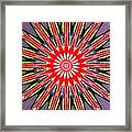 Red Arrow Abstract Framed Print