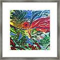 Red Bird In Nest Framed Print