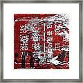 Red Black White Framed Print