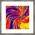 Red Blue Orange Red Yellow Swirl Framed Print