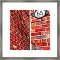 Red Bricks Framed Print