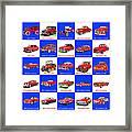 Red Cars Of America Framed Print