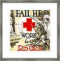 Red Cross Poster, C1918 Framed Print
