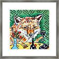 Red Fox At The Wine Bar Framed Print by Jay  Schmetz