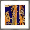 Red Hot Sax Keys Framed Print