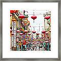 Red Lanterns Of Chinatown Framed Print