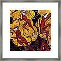 Red Monkeys No. 3 - Study No. 1 Framed Print