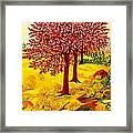 Red Oaks  Pop Art Framed Print