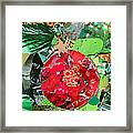 Red Ornament Framed Print