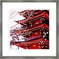 Red Pagoda Framed Print