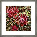 Red Proteas Framed Print by Jen Norton