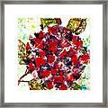 Red Purple Flower Framed Print