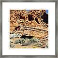 Red Rock Land Framed Print