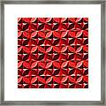 Red Textured Wall Framed Print