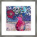 Red Vase IIi Framed Print