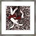 Red Velvet Dress Framed Print
