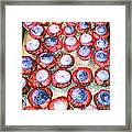 Red Velvet Superbowl Cupcakes Framed Print by Lexa Newman