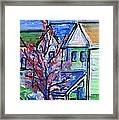 Redbud Tree At West Cape May Framed Print