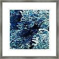 Reflection In Blue Water  Framed Print