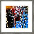Reflection Of A Flamingo 1 Framed Print