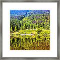 Reflections On A Summer Day - Vail - Colorado Framed Print
