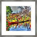 Reflective Boat Framed Print