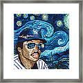 Reggie Jackson Starry Night Framed Print