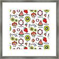 Repeat Print - Fruits Framed Print