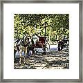 Rest Stop - Central Park Framed Print