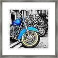 Retro Harleys Framed Print