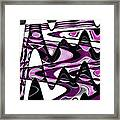 Retro Waves Abstract - Pink Framed Print