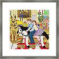 Ride-a-cock-horse Framed Print